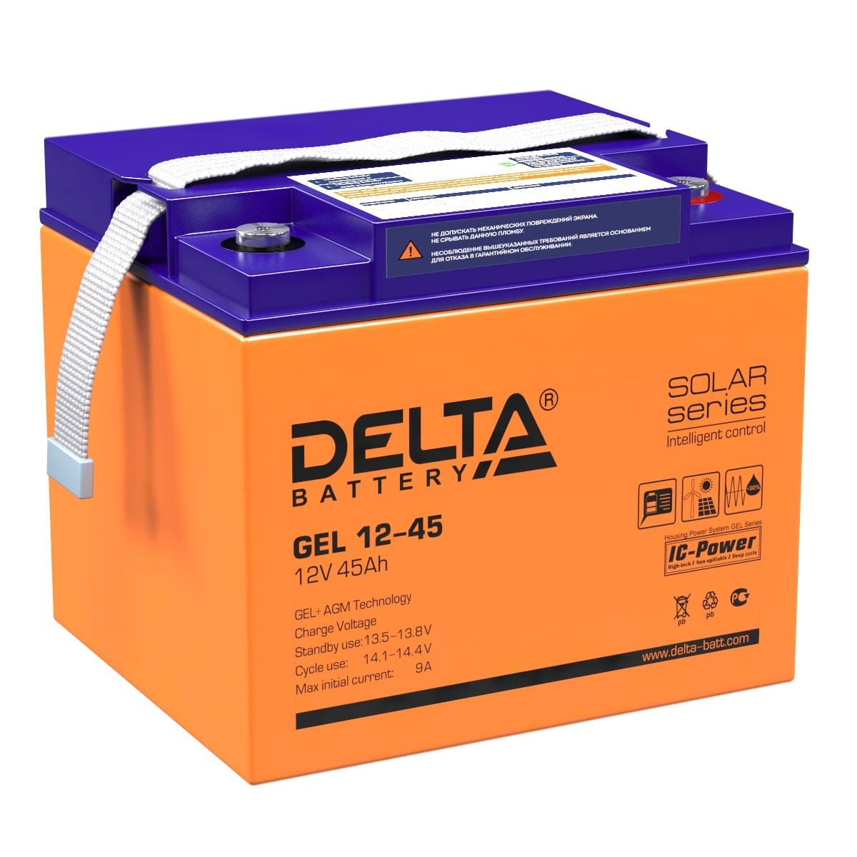 Аккумулятор DELTA GEL 12-45 по цене 10 320