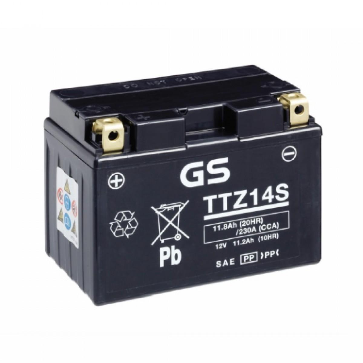 Аккумулятор GS TTZ14S.