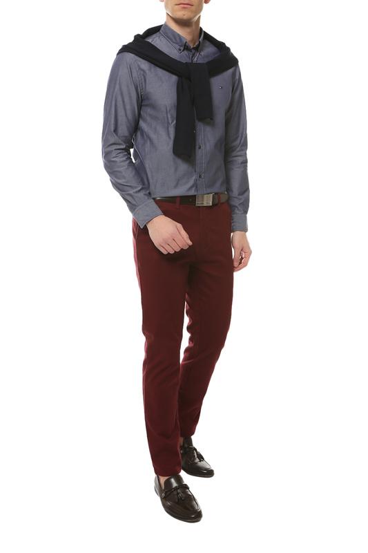 Рубашка мужская Tommy Hilfiger MW0MW12169 синяя S