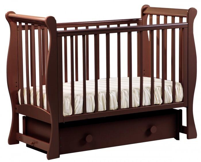 Купить Кровать детская Лель АБ 21.2 Лаванда Махагон маятниковая поперечная,