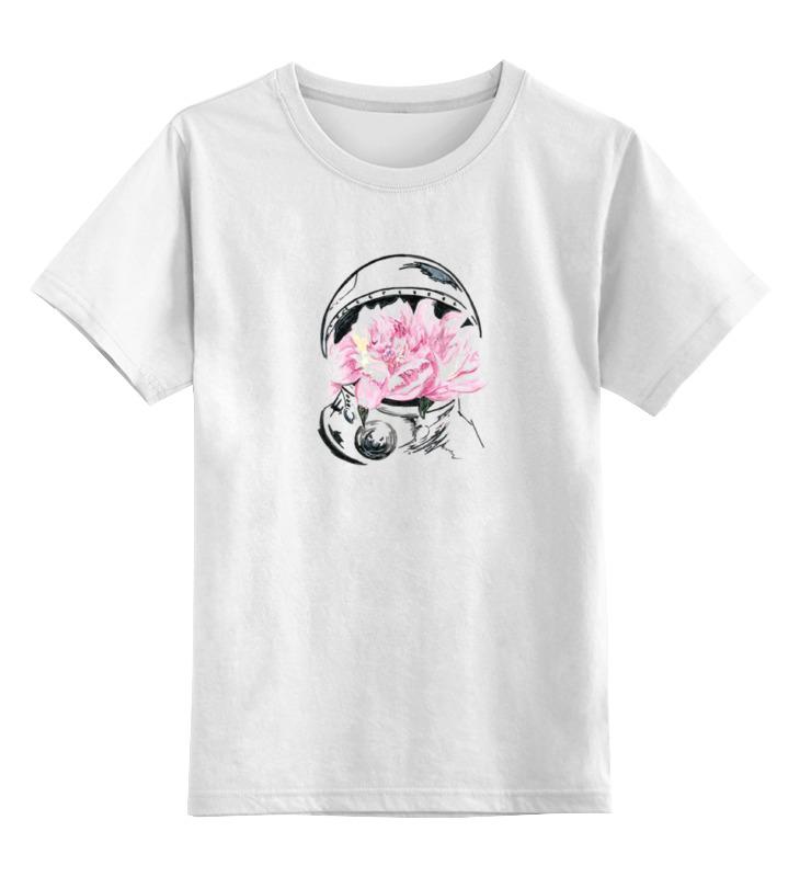 Купить 0000000677777, Детская футболка классическая Printio Space, р. 128,