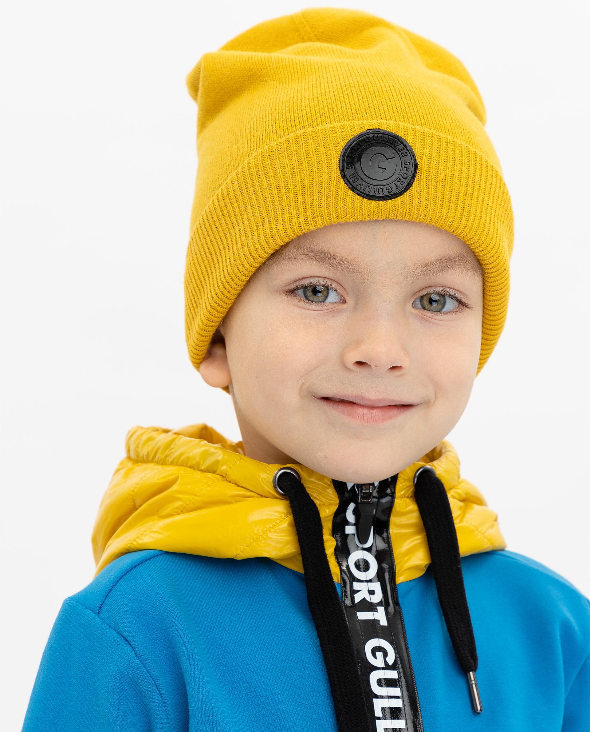 Купить 219FBC7302, Шапка детская Gulliver, цв. желтый р-р 50,
