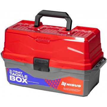 Ящик для снастей Nisus Tackle Box трехполочный красный N-TB-3-R от Тонар