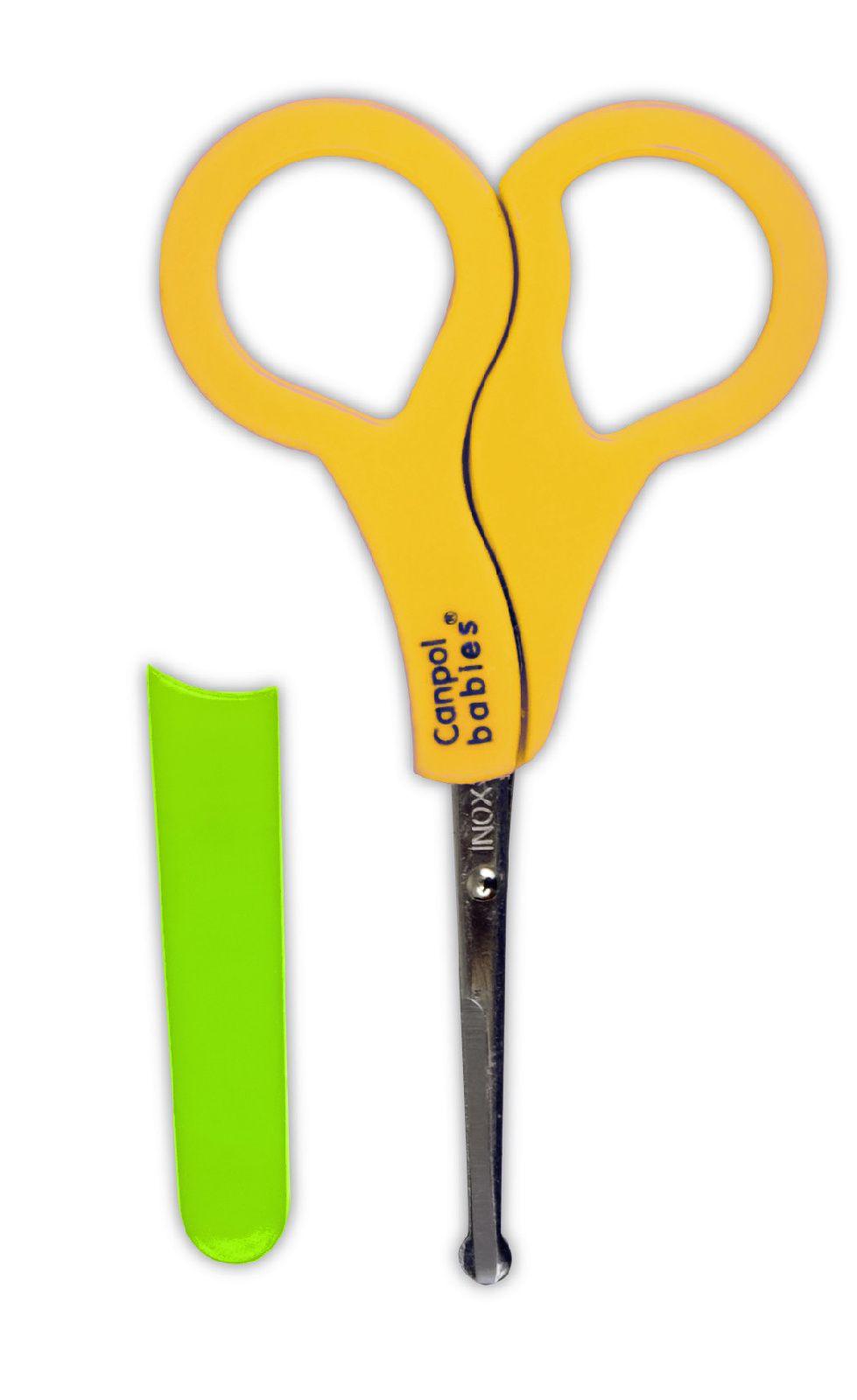 Ножницы безопасные в чехле Canpol желтые