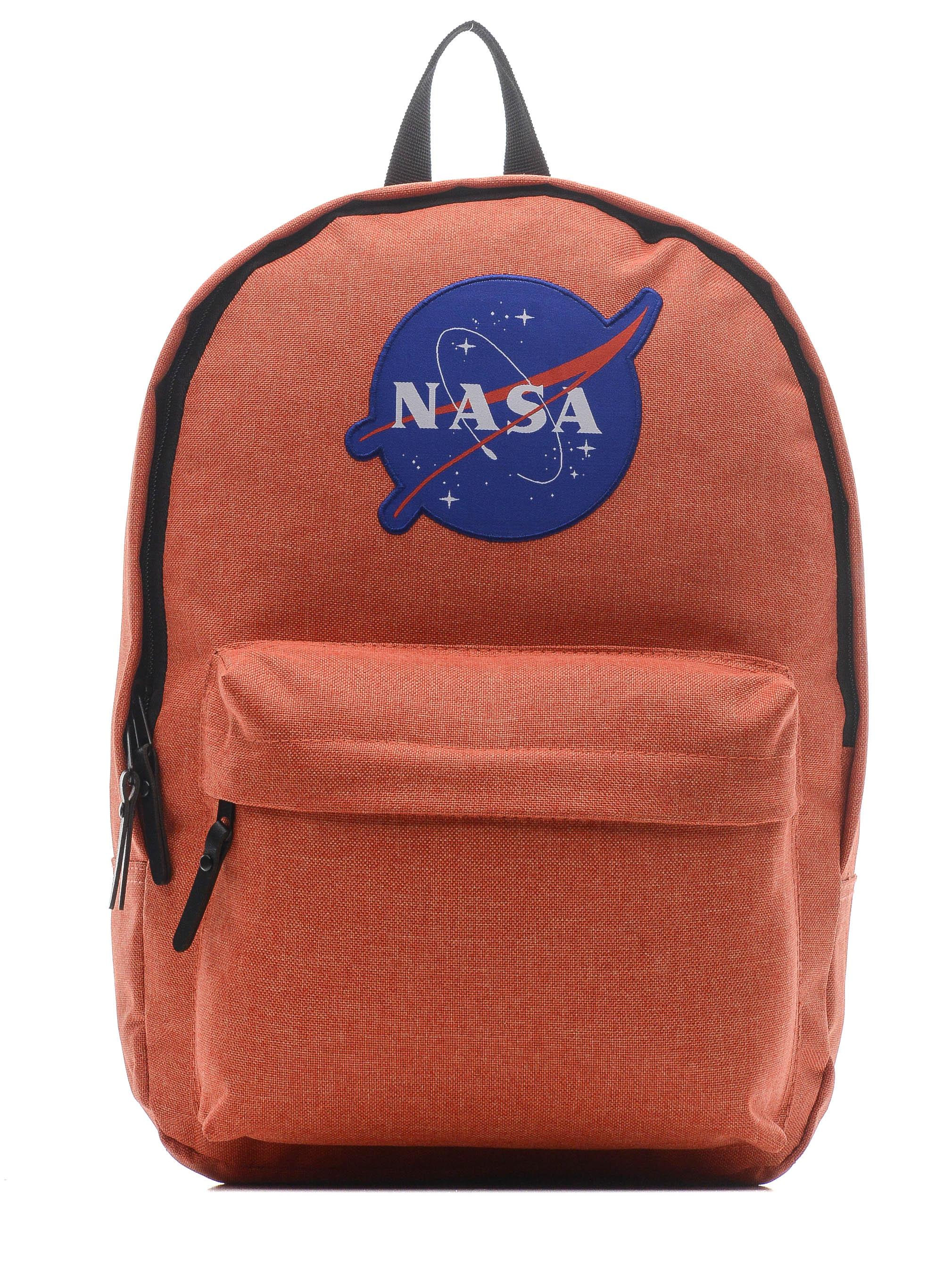 Купить Рюкзак детский NASA 086109002-ORANGE-17 38х28х13 см., цвет: оранжевый,