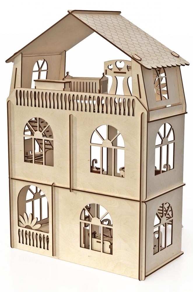Конструктор кукольный домик ХэппиДом Коттедж с мебелью