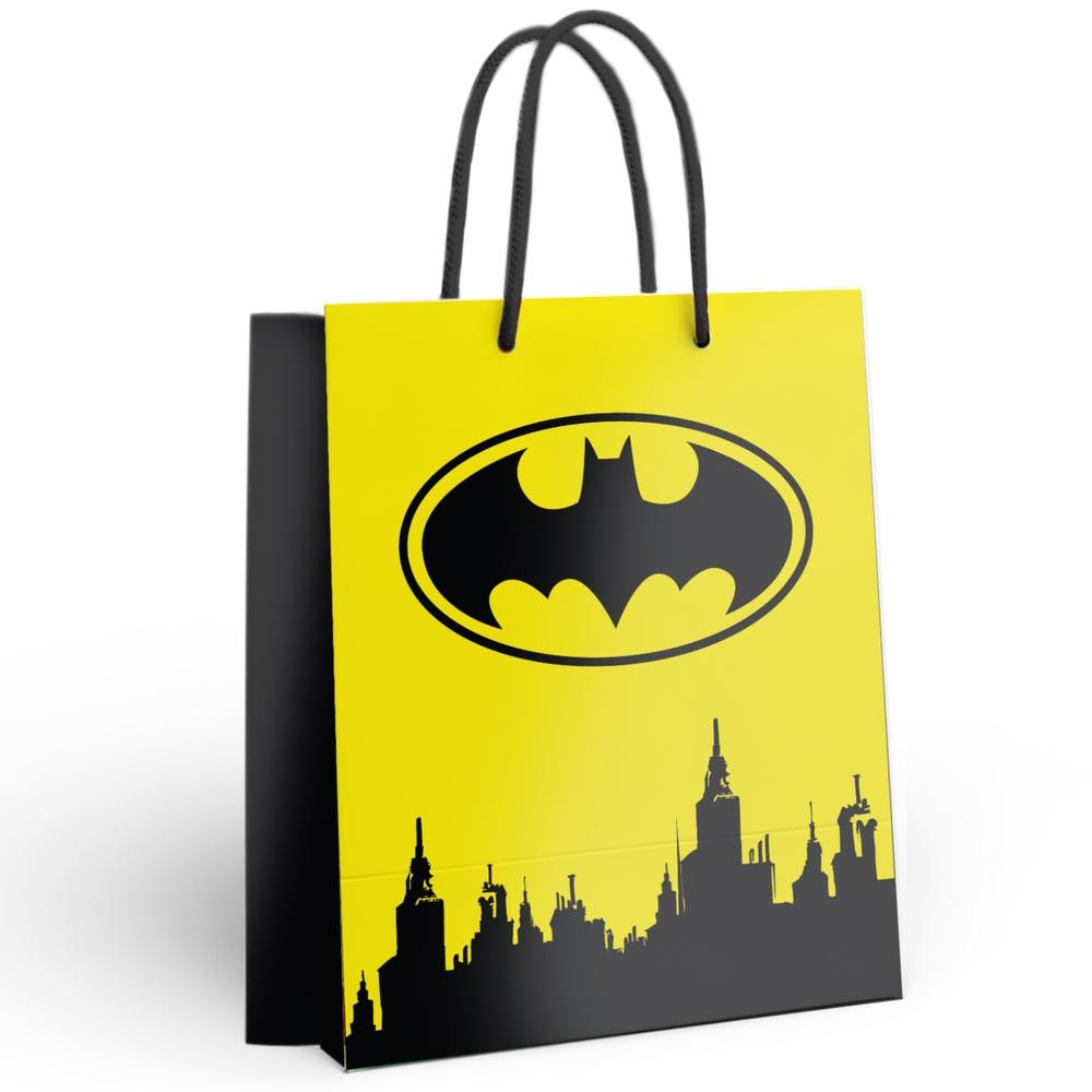 Пакет подарочный большой Batman (желтый), 250x350x100 мм