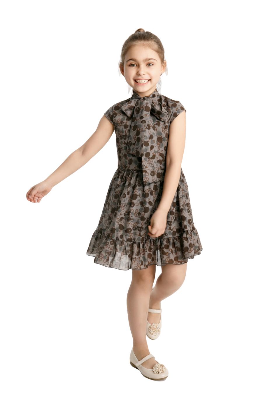 Купить 851Т-СЕРЫЙ, Платье детское Archy, цв. серый, р-р 122, Платья для девочек