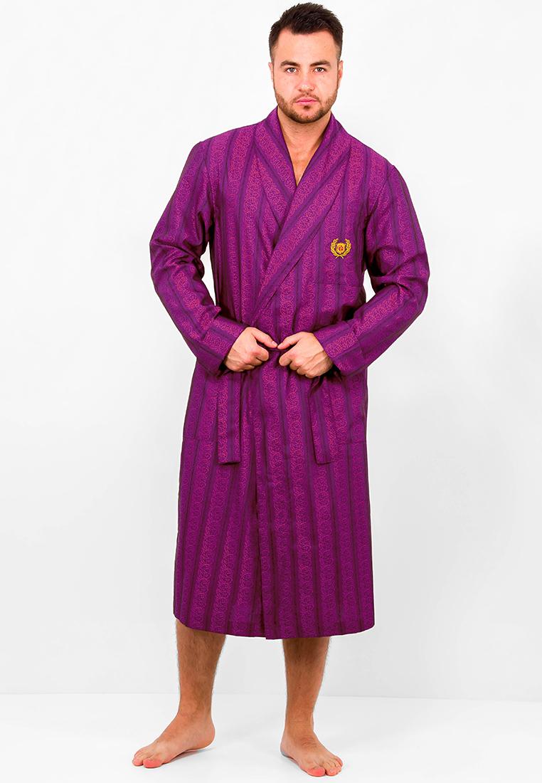 Домашний халат мужской Greg GHL-2790-00 фиолетовый 50