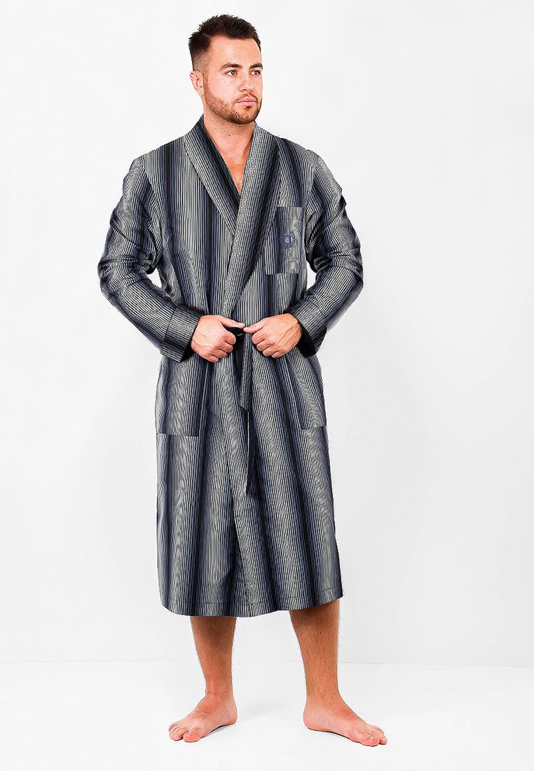 Домашний халат мужской Greg GHL-524-00 серый 50
