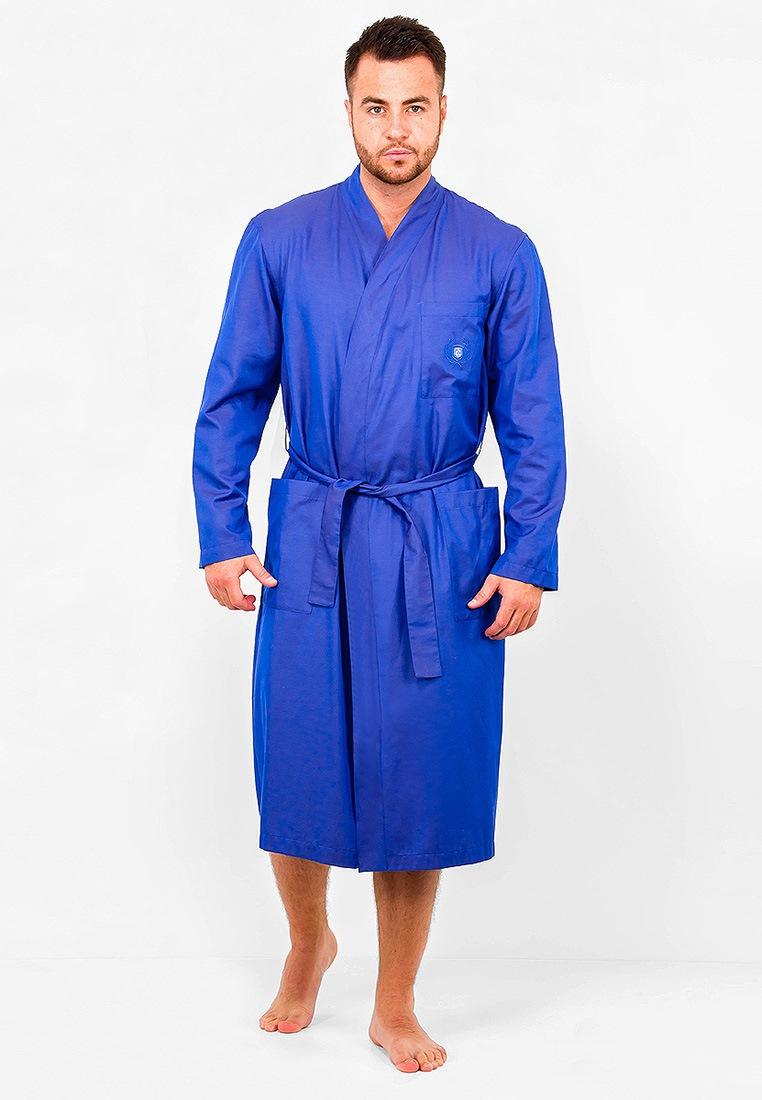 Домашний халат мужской Greg GHL-4112-03 голубой 50