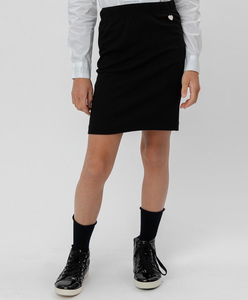 Купить Черная юбка BUTTON BLUE 220BBGS55010800, размер 158,