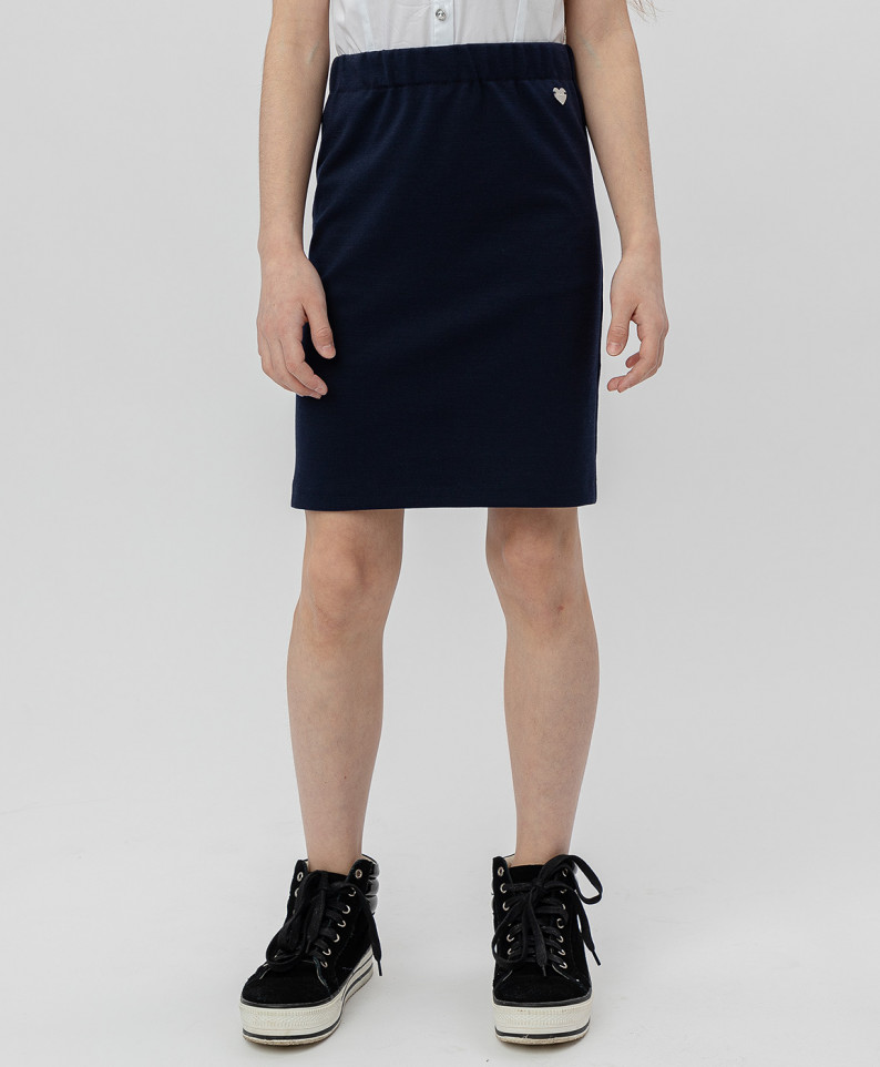 Купить Синяя юбка BUTTON BLUE 220BBGS55011000, размер 152,