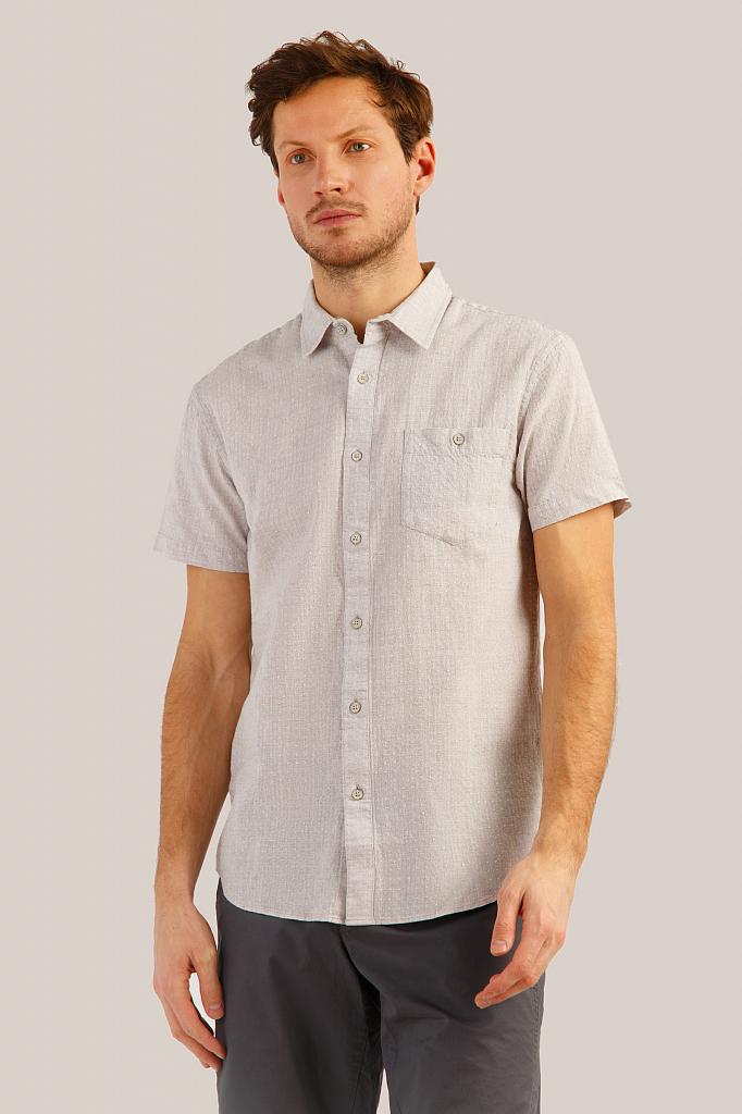 Рубашка мужская Finn-Flare S19-42009 серая L фото