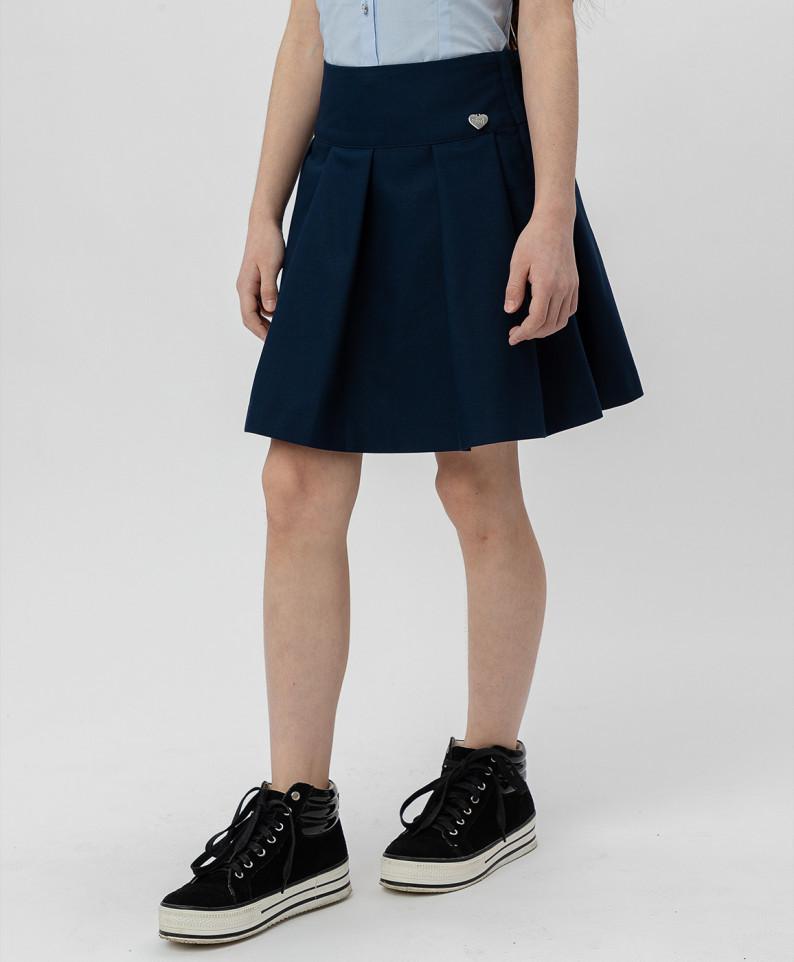 Купить Синяя юбка в складку BUTTON BLUE 220BBGS61031000, размер 170,