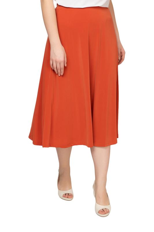 Юбка женская OLSI 1814013_3 оранжевая 58 RU