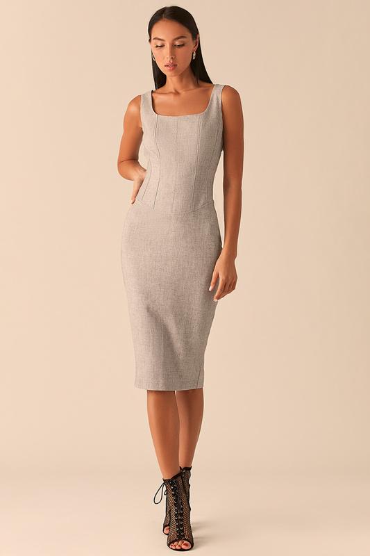 Платье майка женское LOVE REPUBLIC 358219524 серое