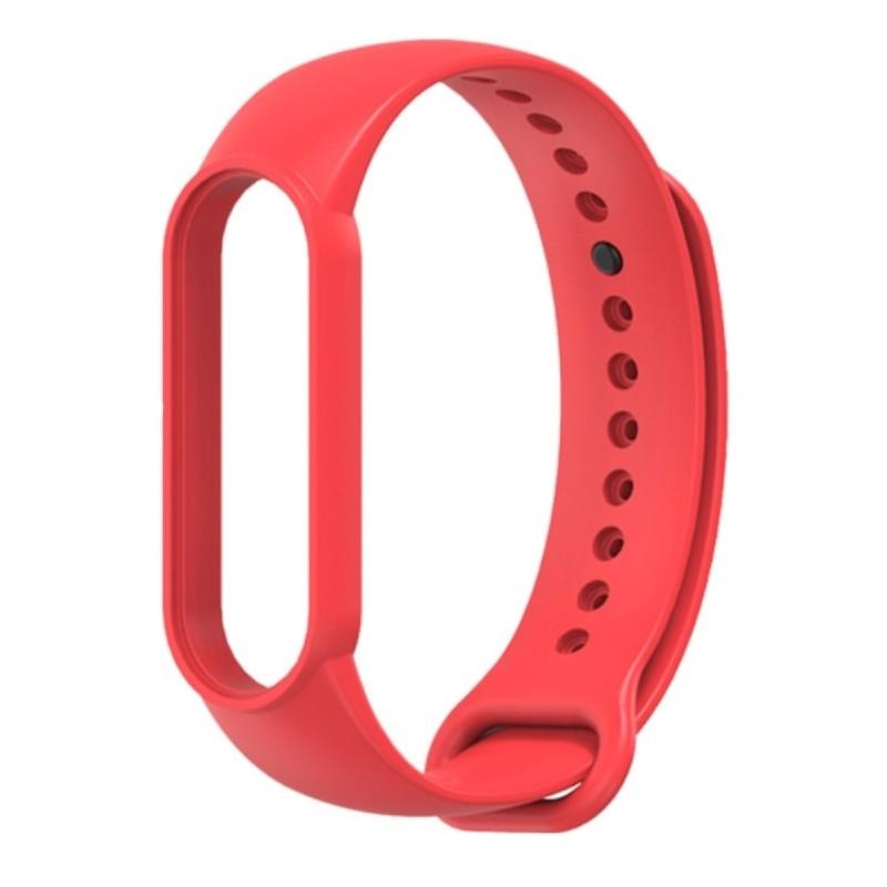 Силиконовый ремешок Mijobs для Xiaomi Mi Band 5 / Mi Band 5 NFC (красный)