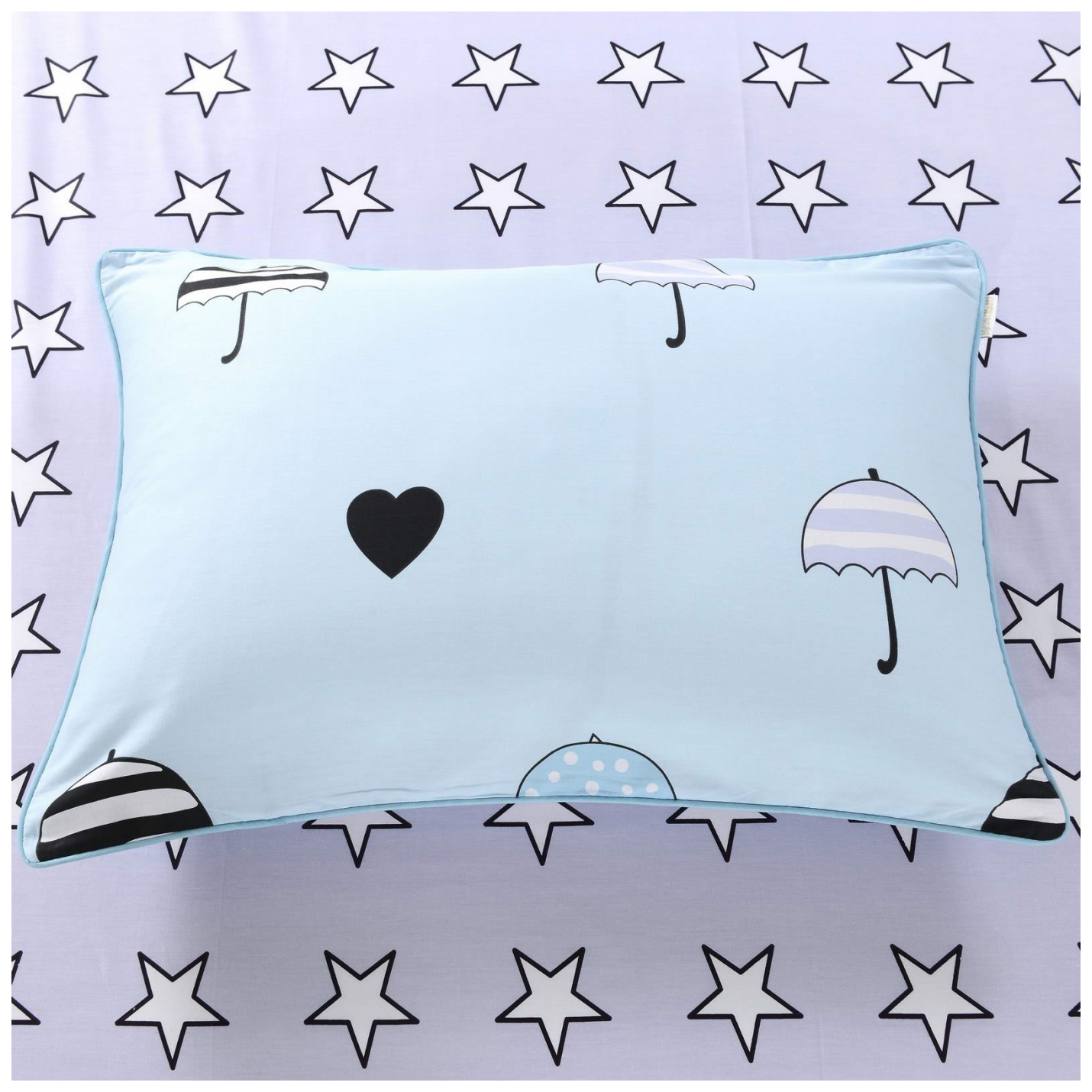 Купить Комплект детского постельного белья Sofi dе Marko Летний дождик Дет-376 голубой,