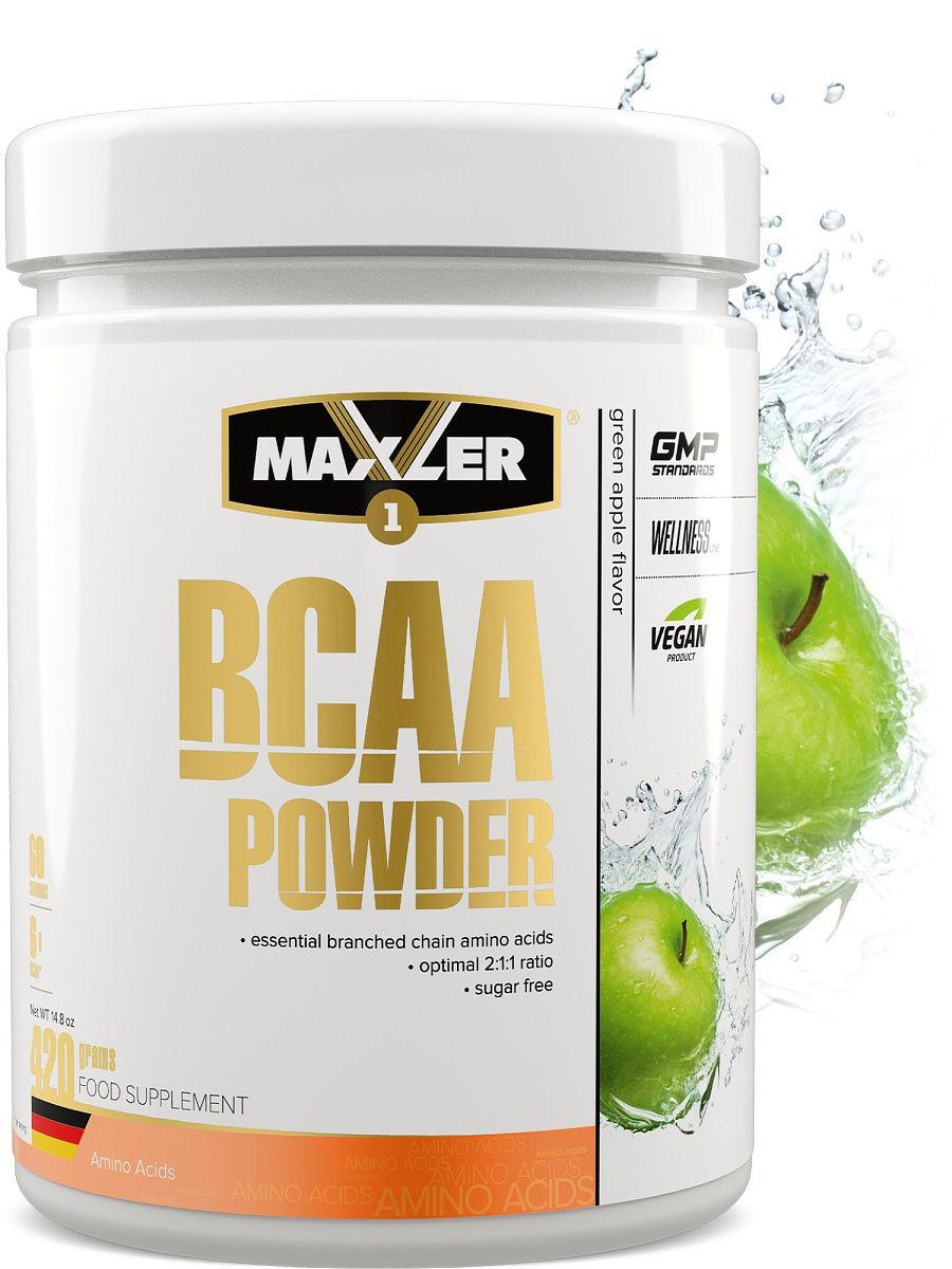 Аминокислоты БЦАА MAXLER BCAA Powder Sugar Free 420 гр (Зеленое яблоко)