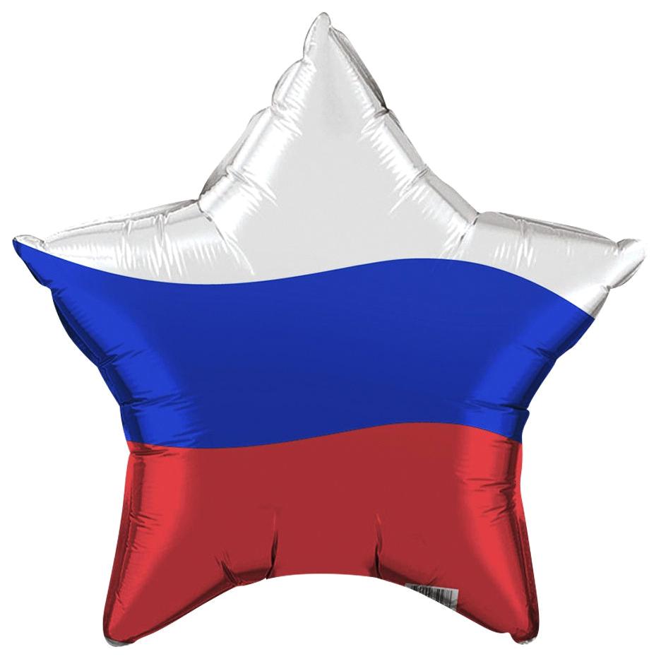 Шар фольгированный Miland Agura Звезда Триколор 750278