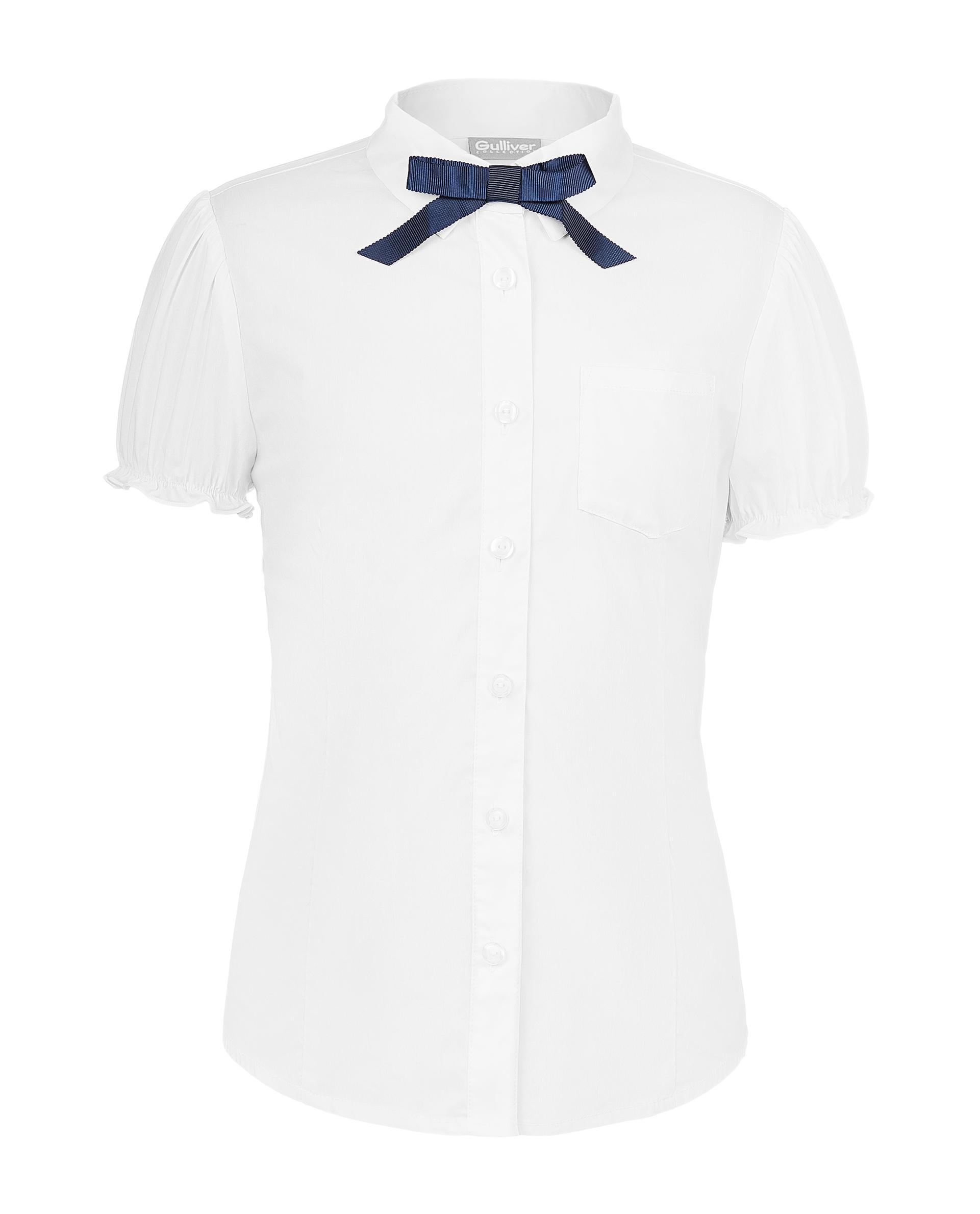 Блузка для девочек Gulliver, цв. белый, р.140 219GSGC2211