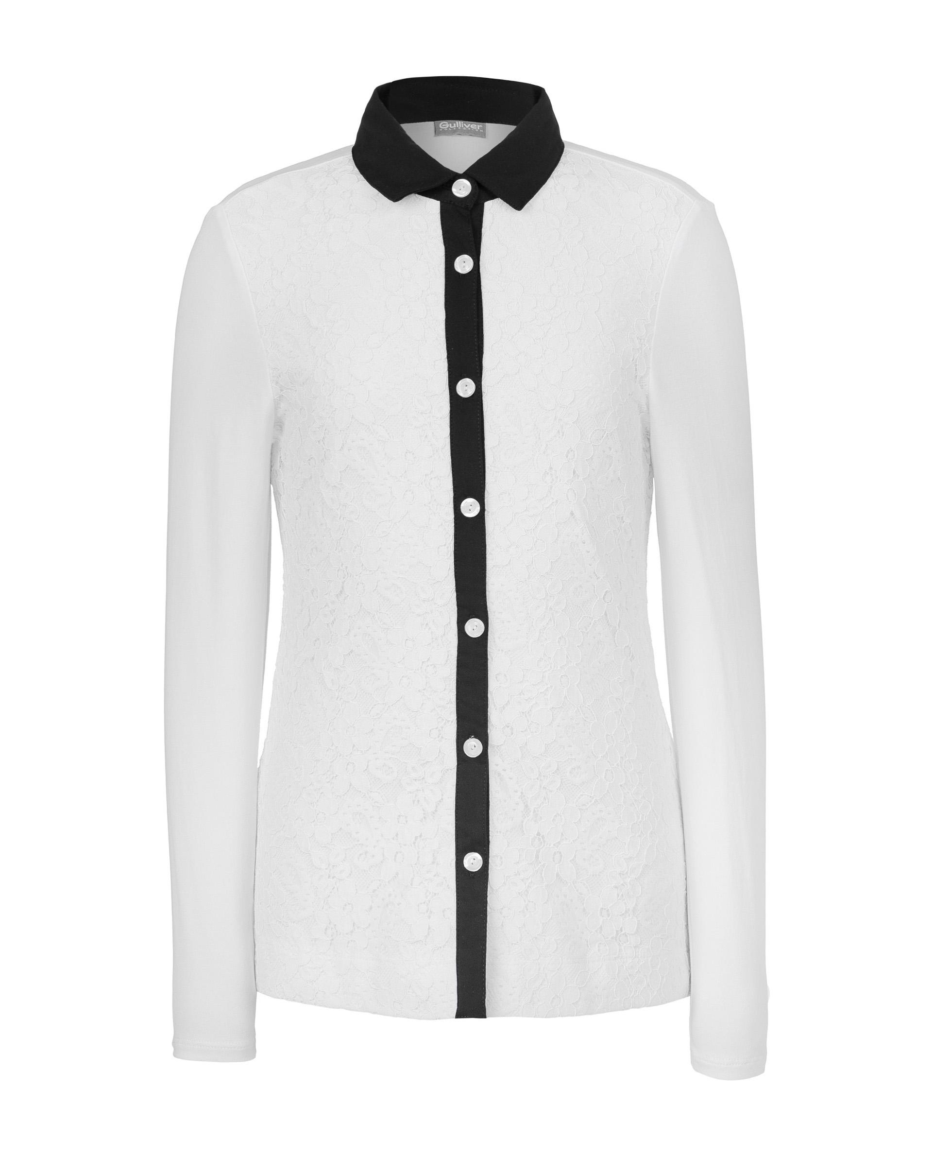 Рубашка для девочек Gulliver, цв. белый, р.128