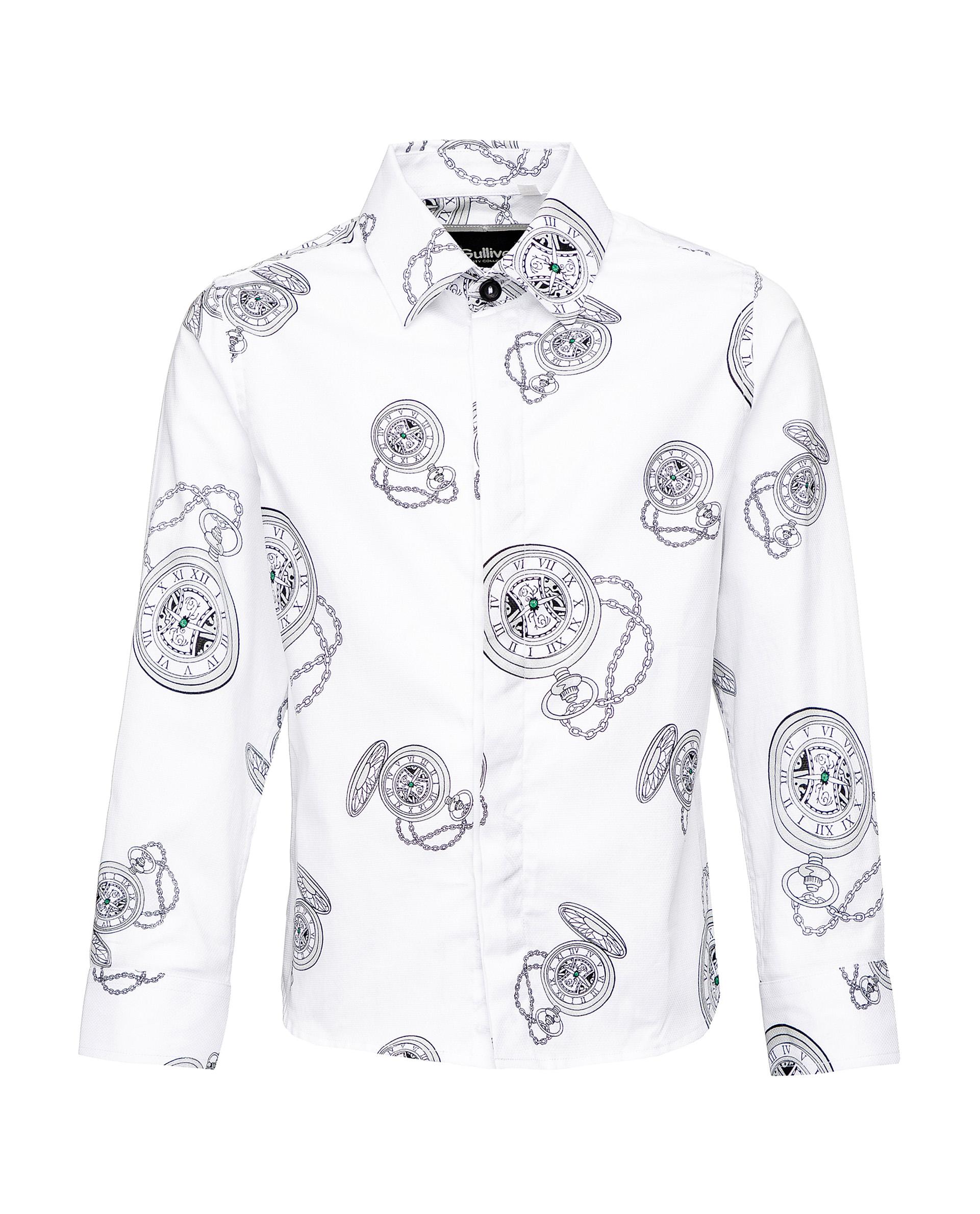 Рубашка для мальчиков Gulliver, цв. белый, р.98