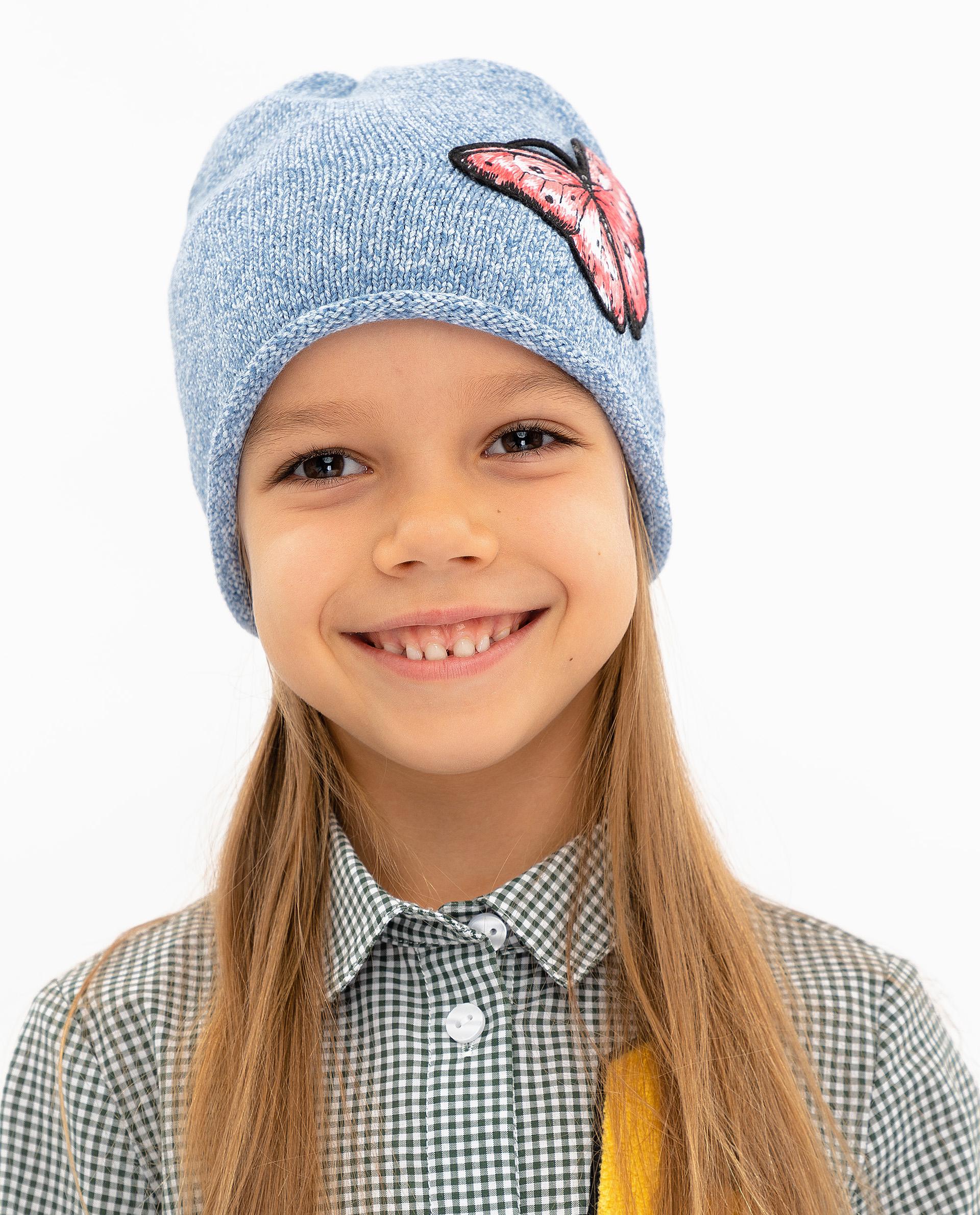 Купить 12002GMC7303, Шапка детская Gulliver, цв. голубой р-р 50,