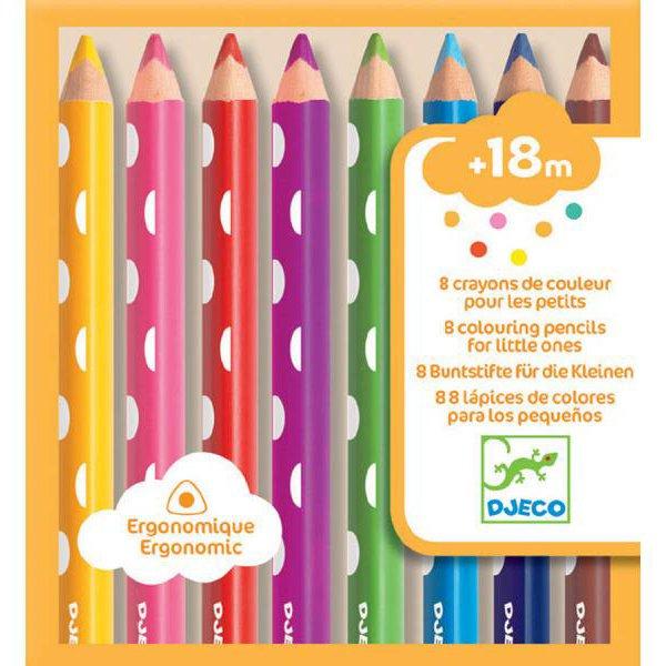 Купить Набор карандашей -8 шт. Djeco, Цветные карандаши