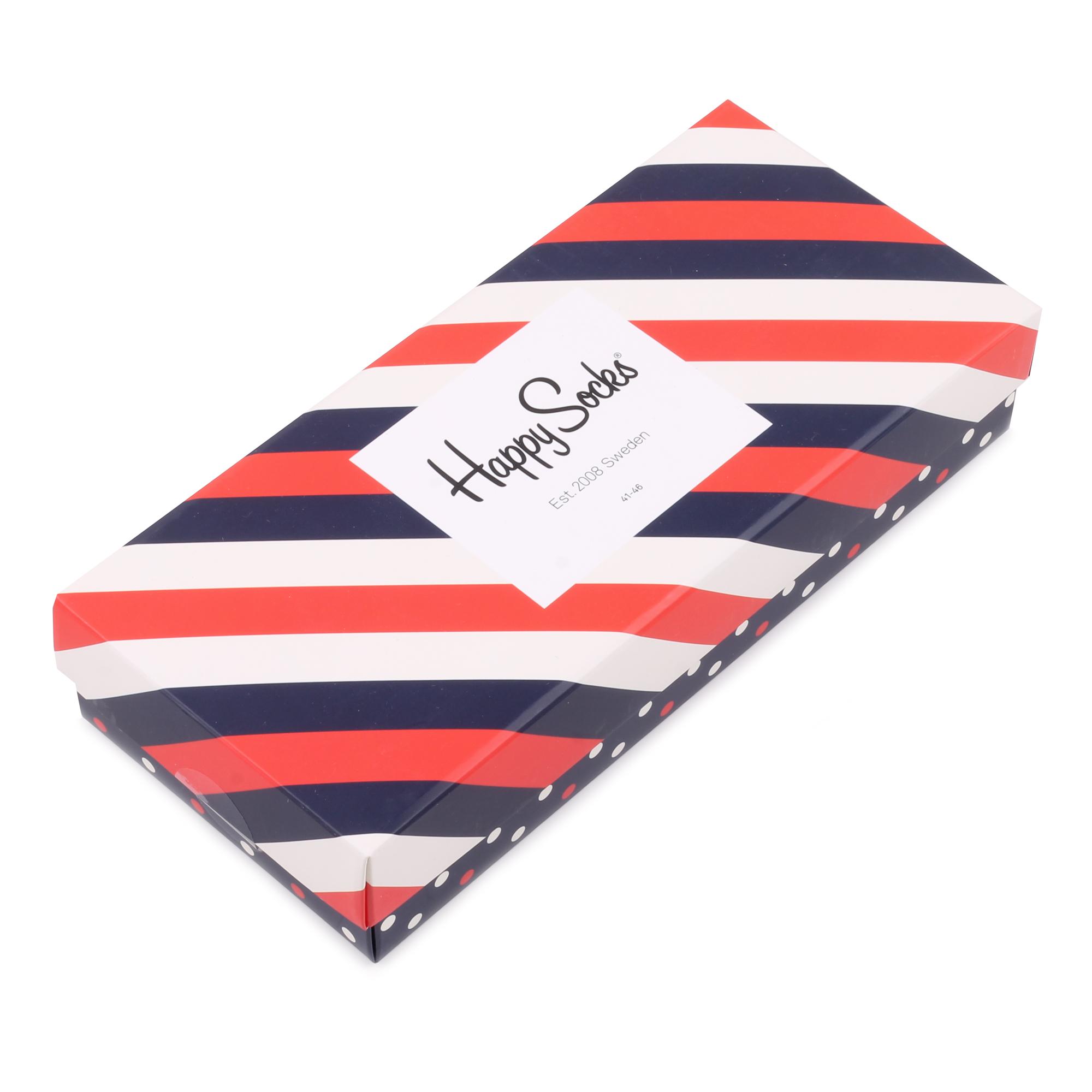 Подарочный набор носков унисекс Happy Socks Stripe Filled Optic 4 Pair Pack красный 41-46