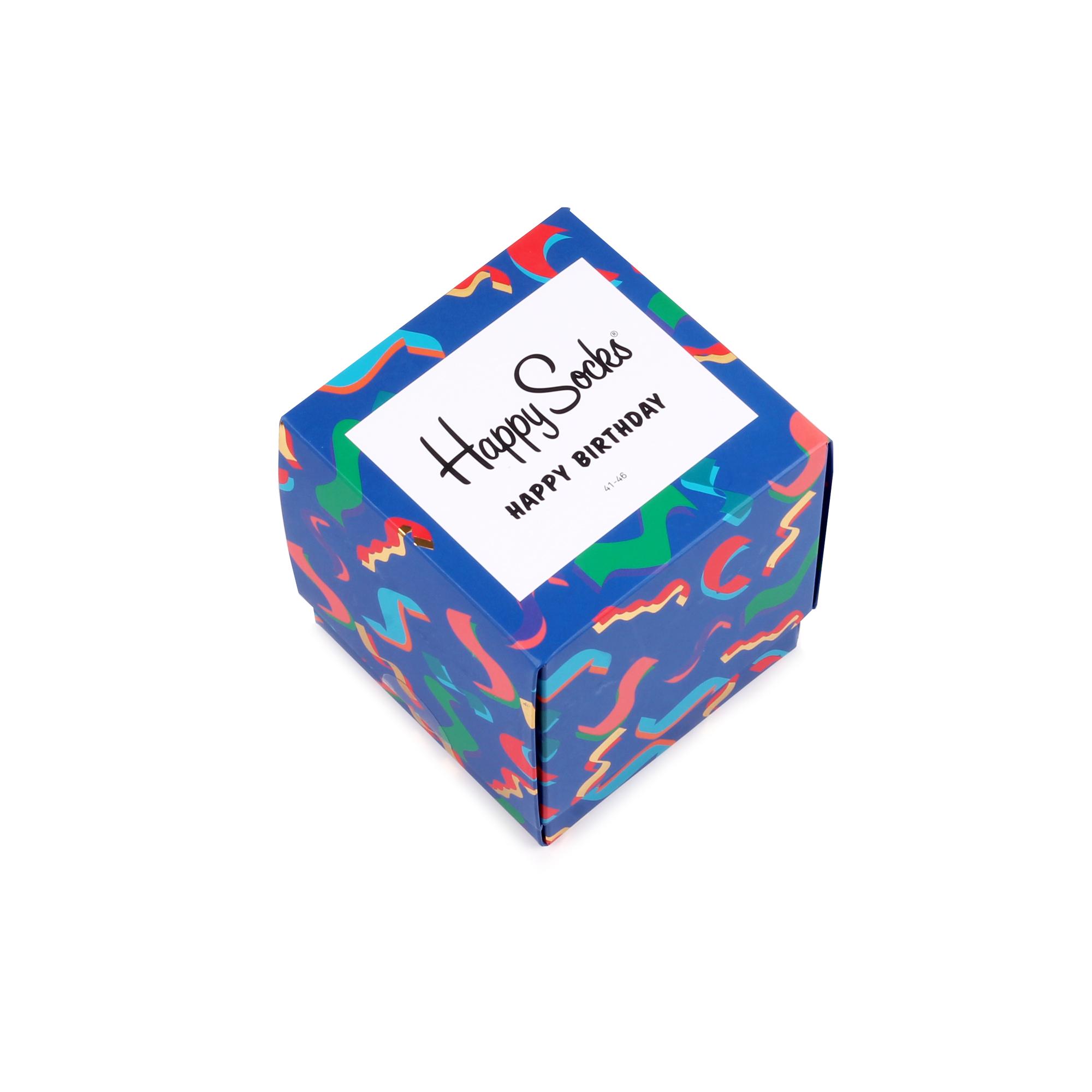 Подарочный набор носков унисекс Happy Socks Happy Birthday 3 Pair Pack синий 41-46