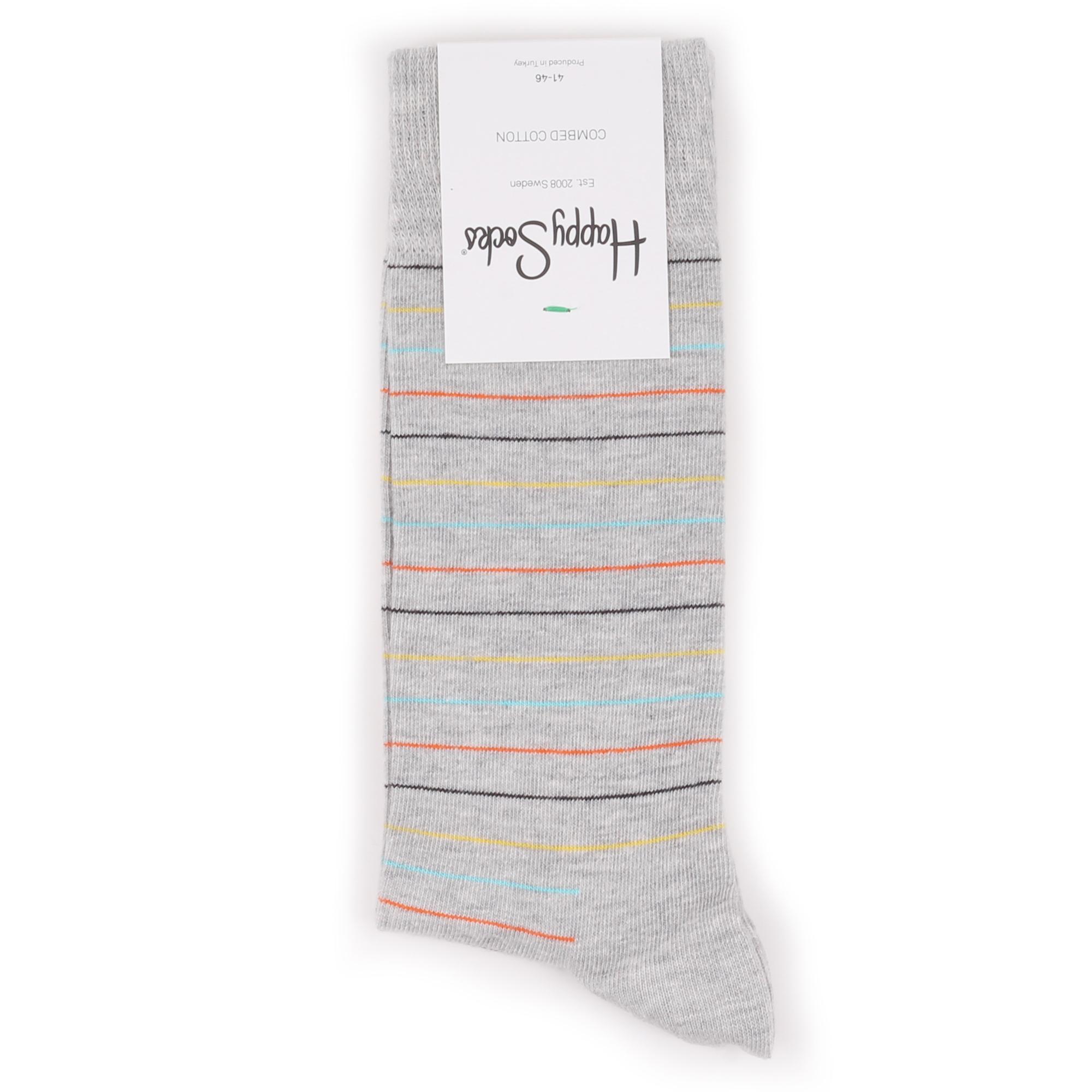 Носки Happy Socks Thin Stripe серые 41-46
