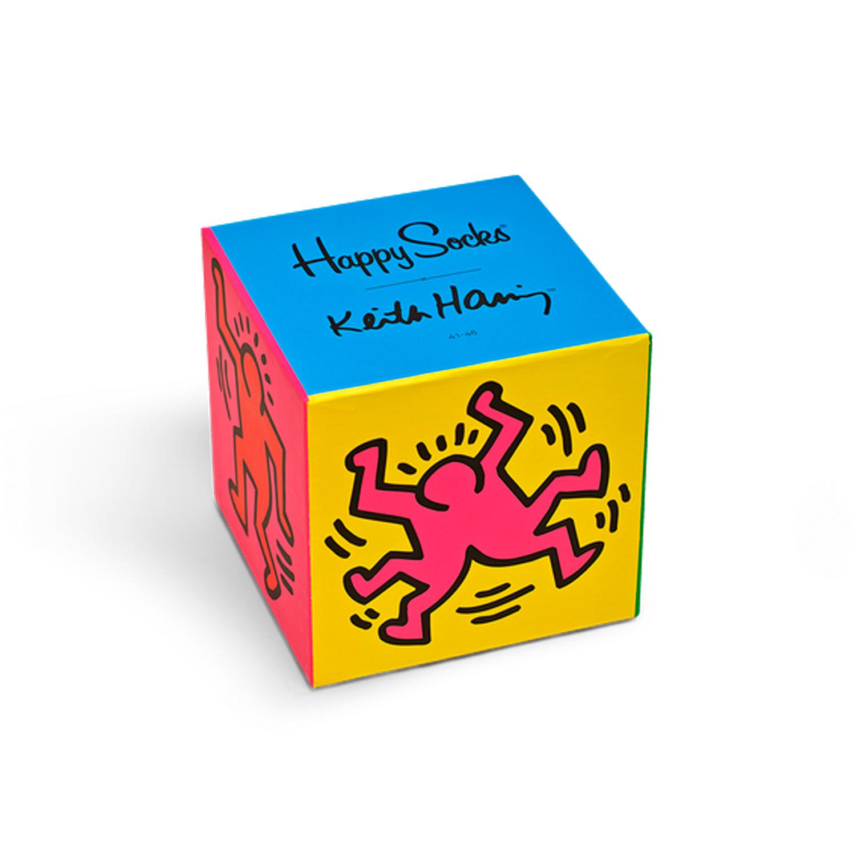 Подарочный набор носков унисекс Happy Socks Keith Haring Gift Box Set разноцветный 41-46