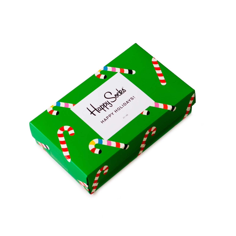 Подарочный набор носков унисекс Happy Socks Holidayв зеленый 41-46