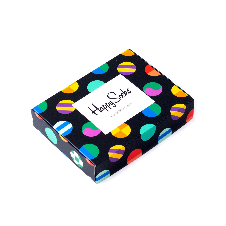 Подарочный набор носков унисекс Happy Socks 2 пары - Big Dots разноцветный 41-46