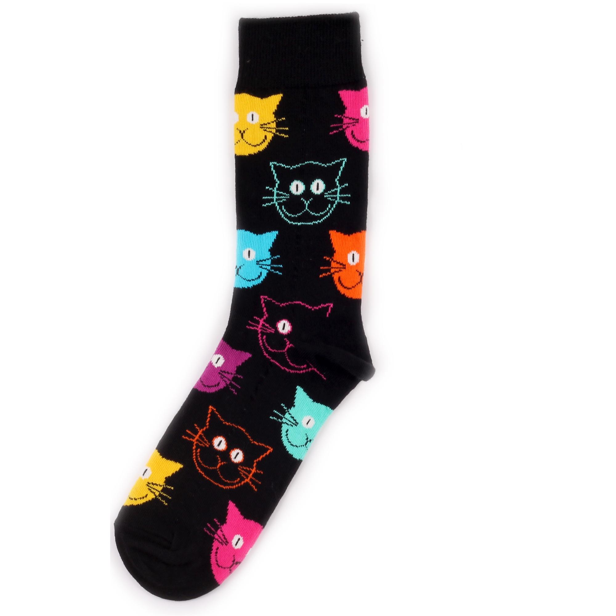 Носки унисекс Happy Socks Cat разноцветные 41-46