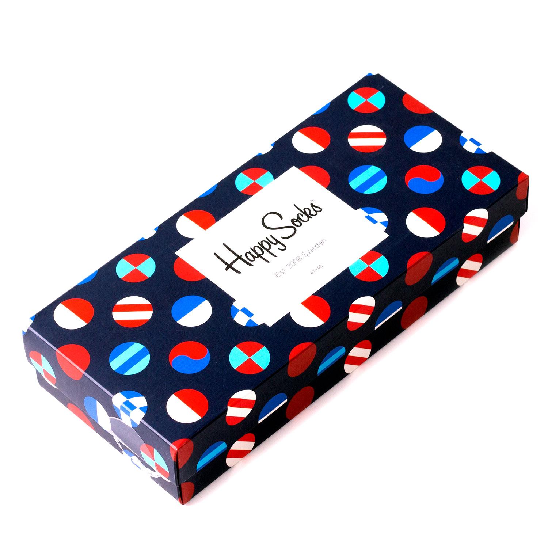 Подарочный набор носков унисекс Happy Socks 4 пары синий 41-46