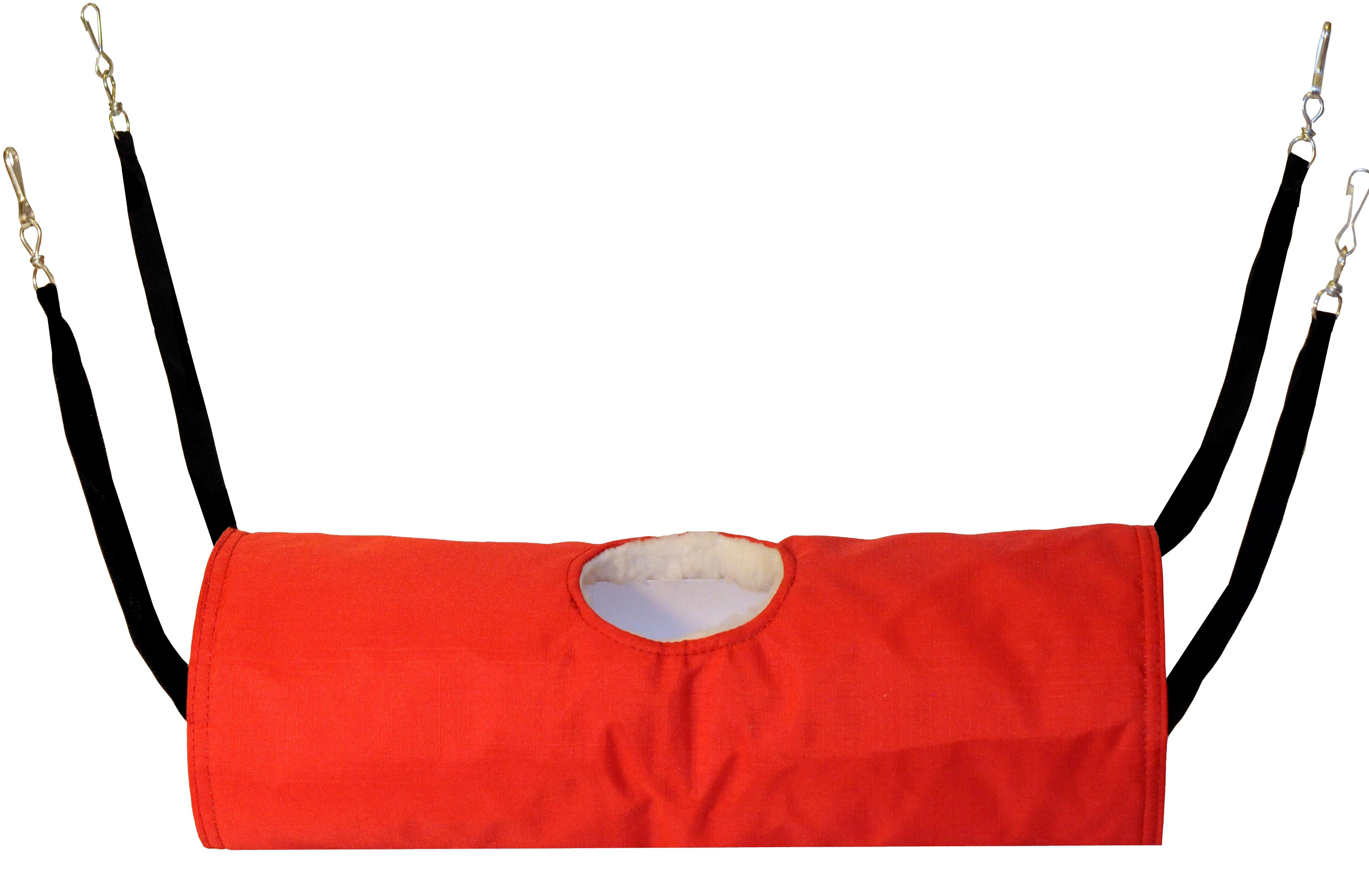 Тоннель для грызунов Монморанси подвесной, красный, 40х15х15