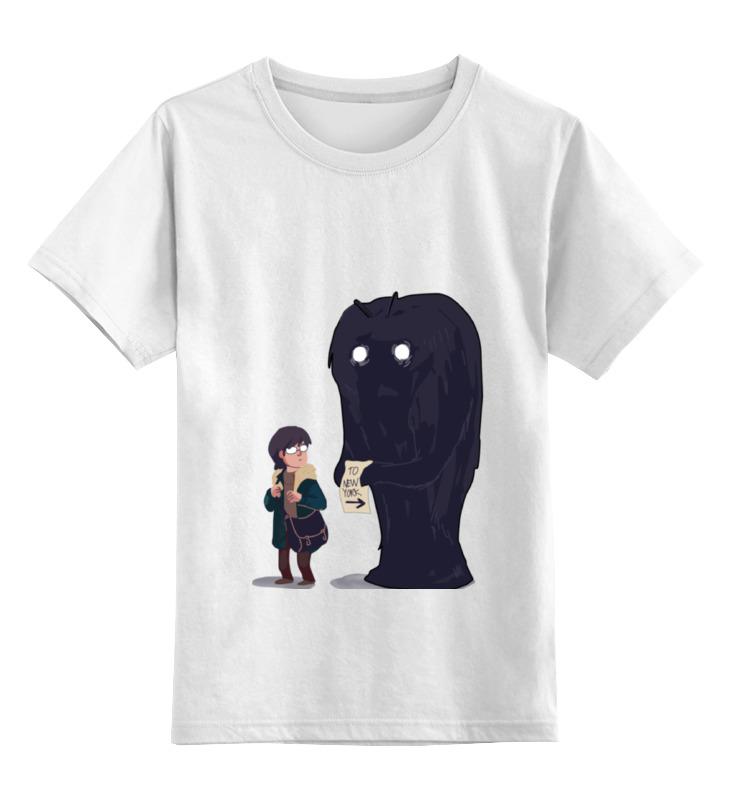 Купить 0000000676452, Детская футболка классическая Printio To new york, р. 164,