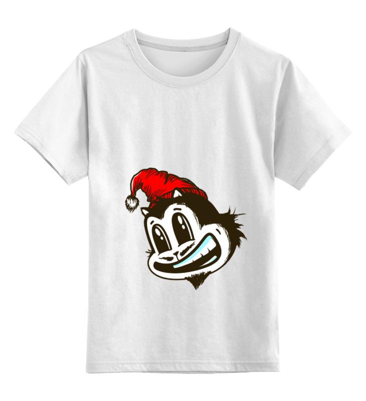 Купить 0000000676479, Детская футболка классическая Printio New year, р. 164,