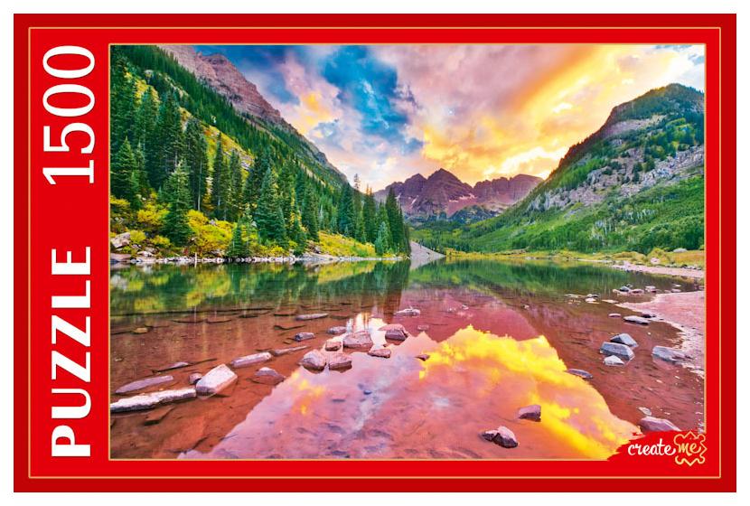 Купить Пазлы Рыжий кот Озеро в горах Марун Беллс 1500 элементов,