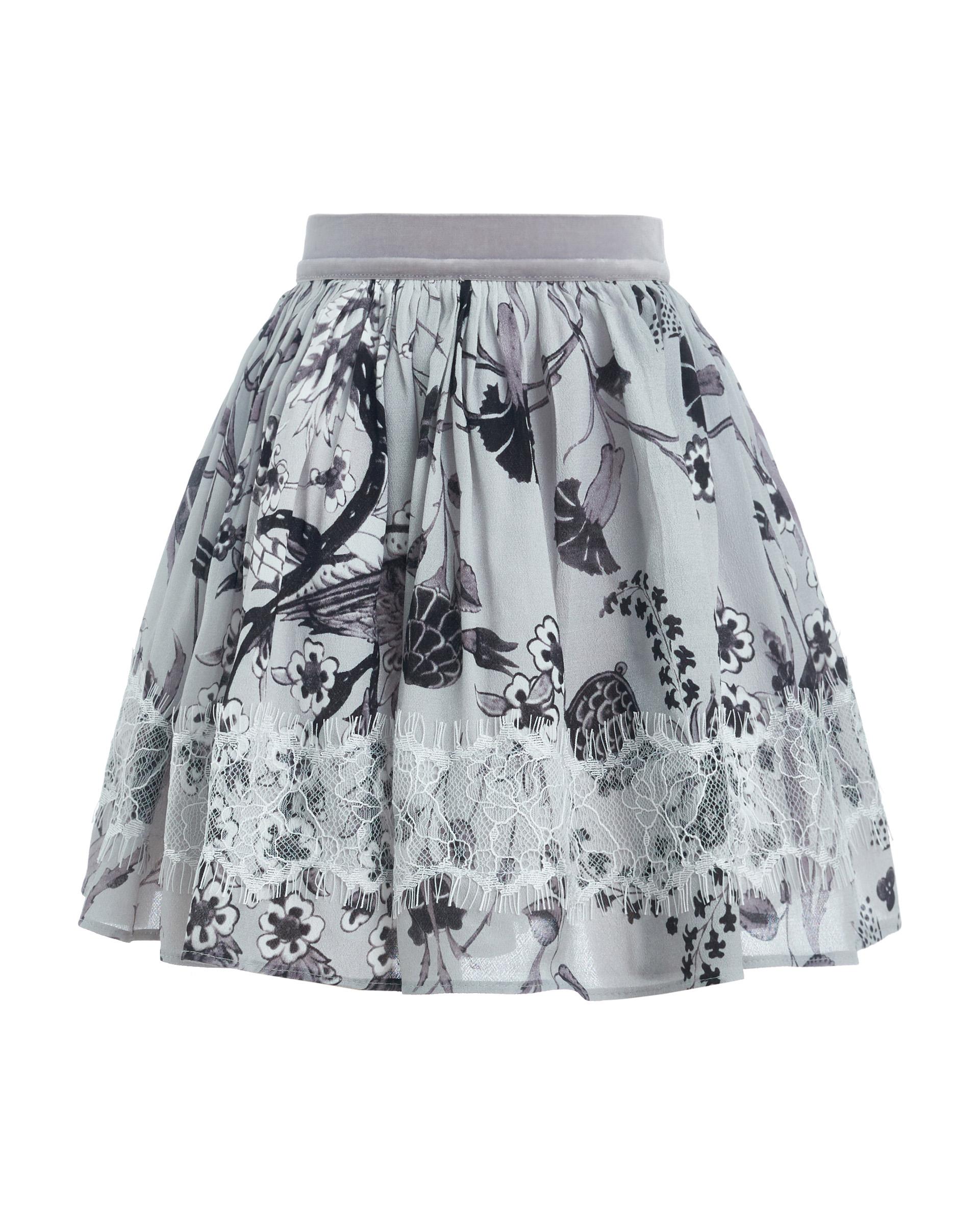 Купить 21901GMC6101, Юбка для девочек Gulliver, цв. серый, р.128,
