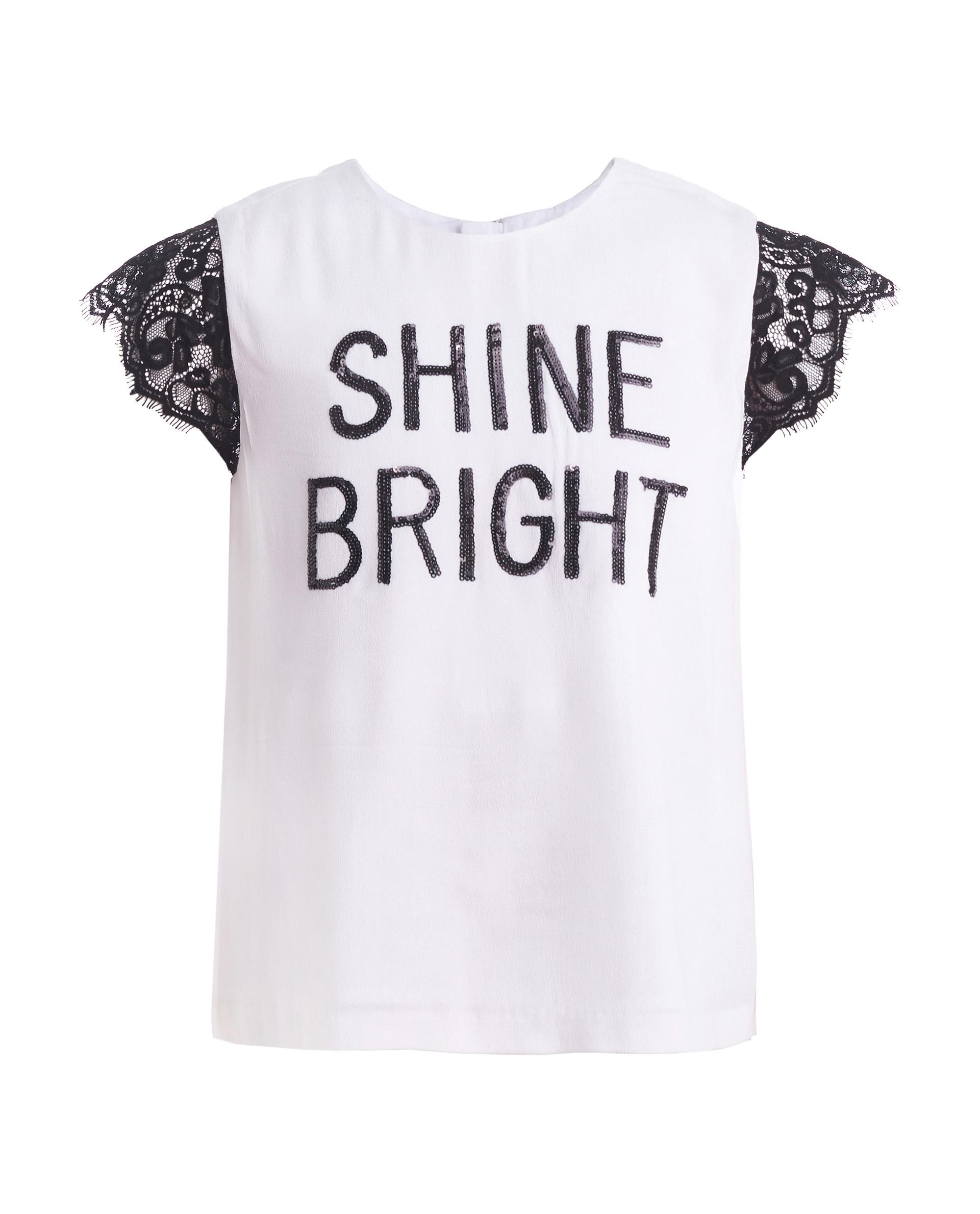 Блузка для девочек Gulliver, цв. белый, р.152 219GPGJC2201