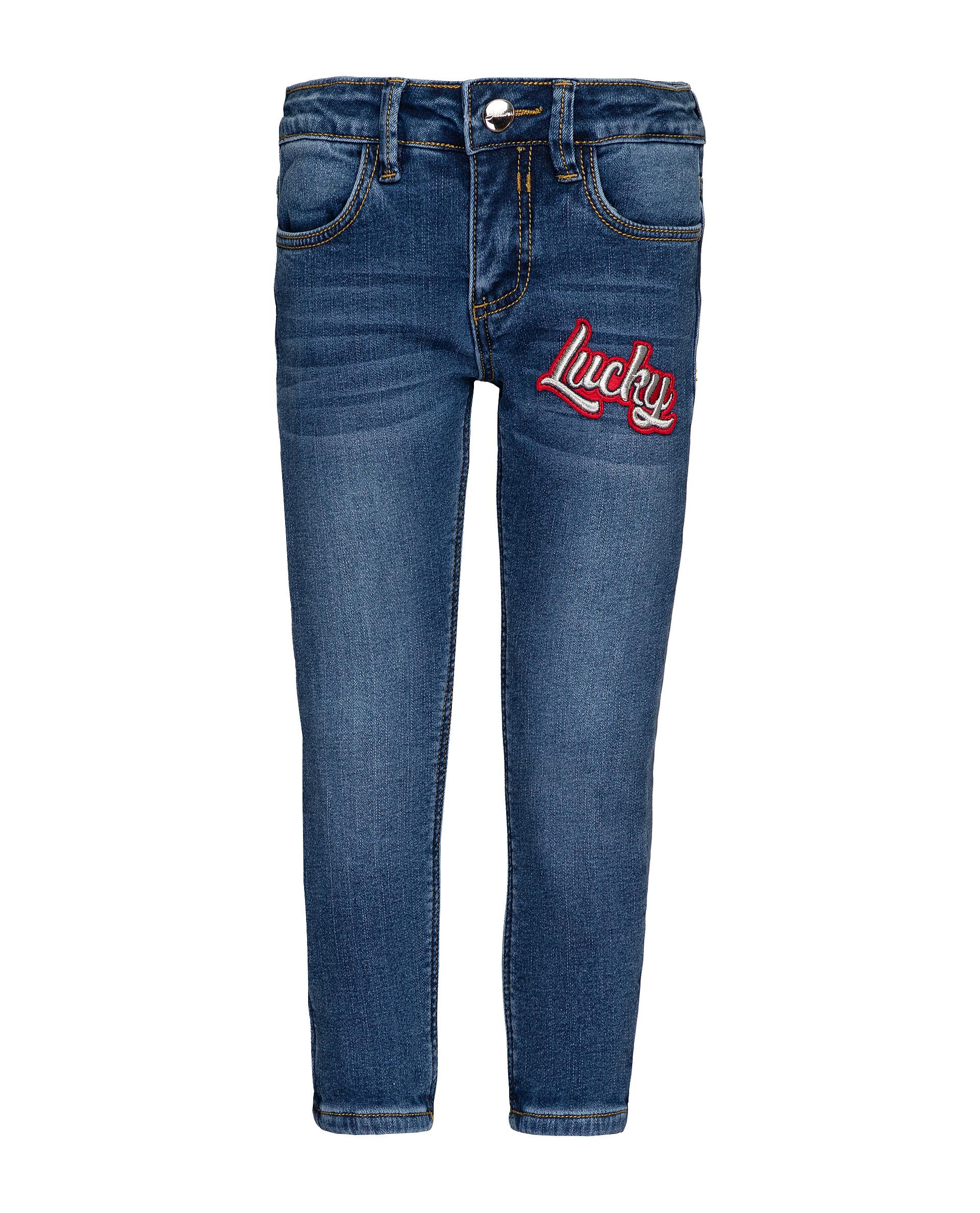 Купить 21903GMC6403, Утепленные джинсы для девочек Gulliver, цв. синий, р.104,