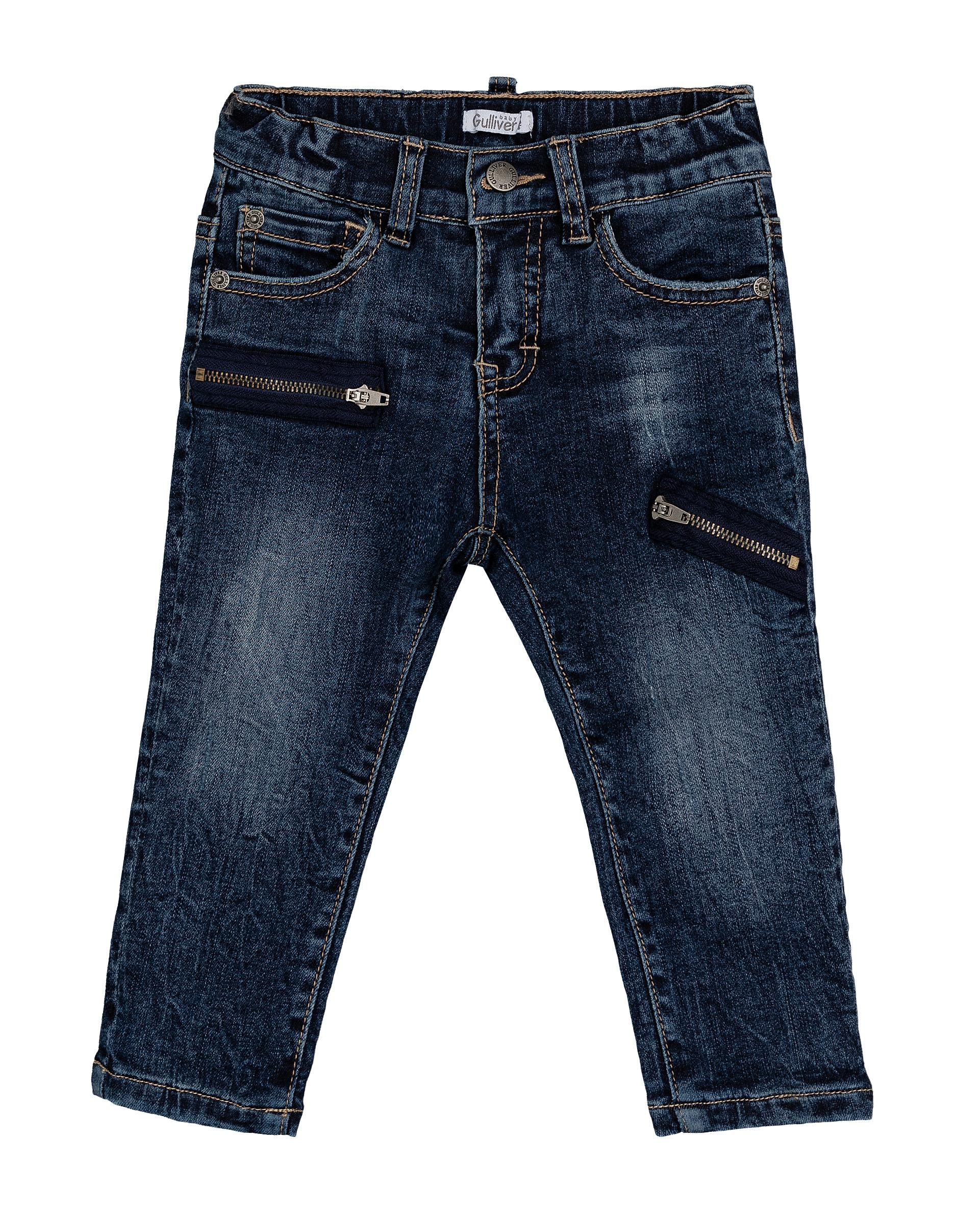 Утепленные джинсы для мальчиков Gulliver, цв. синий, р.74