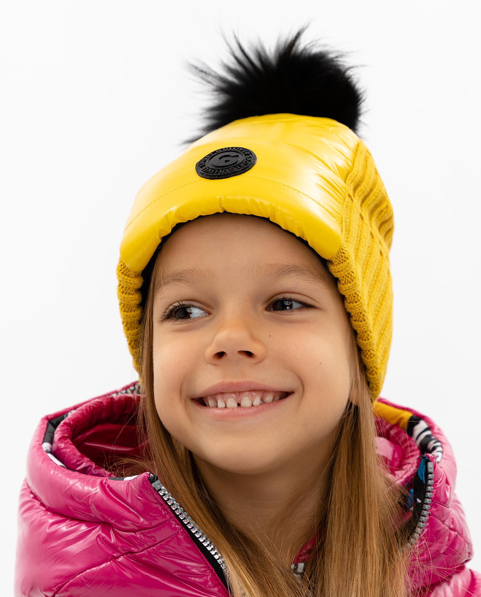 Купить 219FGC7303, Шапка детская Gulliver, цв. желтый р-р 50,