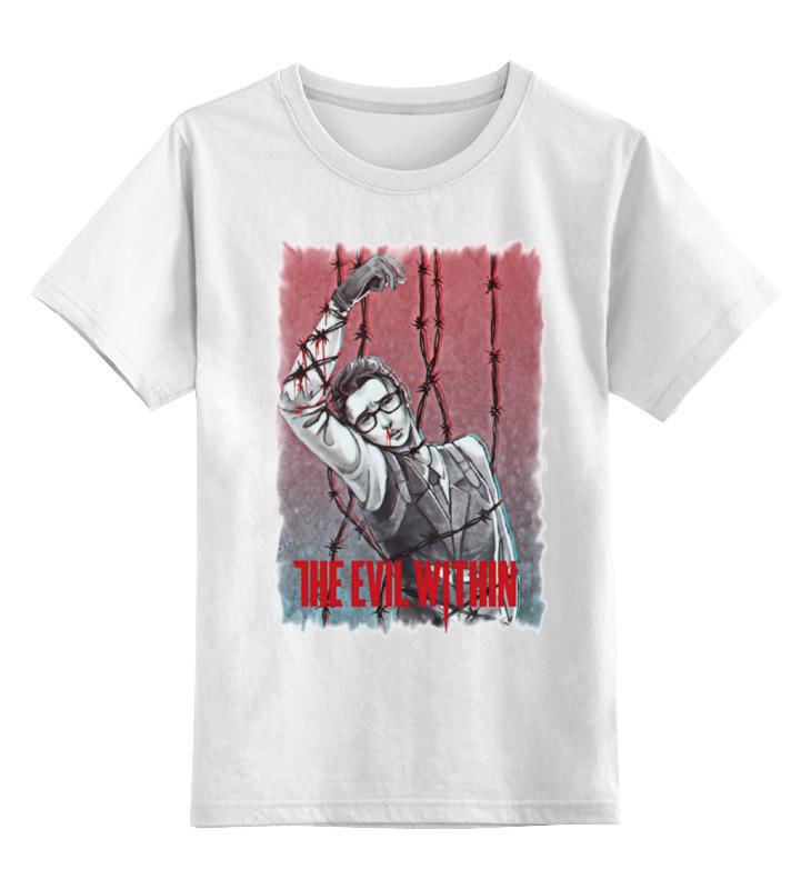 Купить 0000000685502, Детская футболка классическая Printio The evil within, р. 164,