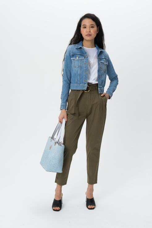Джинсовая куртка женская Guess W0GN22D3LD2 синяя XS