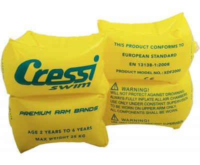 Нарукавники детские надувные CRESSI желтый, 2 шт.